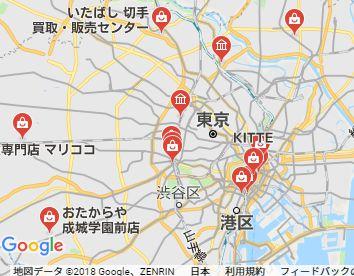 東京切手買取店地図画像