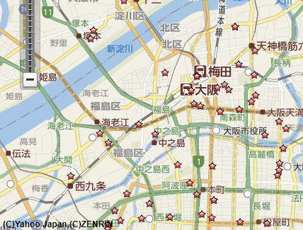 大阪梅田切手買取店地図