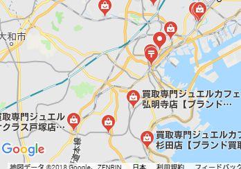 横浜切手買取地図画像