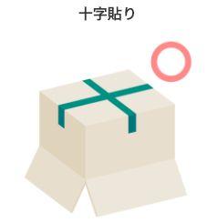 ダンボール梱包ガムテープ貼り方