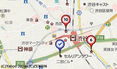 渋谷切手買い取り会社地図