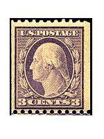 1917年3セントコイルアメリカ切手