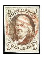 1874アメリカ切手5セント