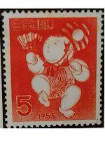 昭和28年年賀切手人形