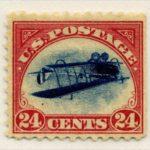 1918年アメリカエラー切手24セント