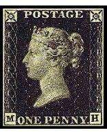 イギリスペニー・ブラック外国切手